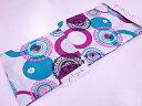 和服 - ブランド浴衣 女性 キスミス 変わり織 抽象模様浴衣(フリーサイズ)(白)【新品】