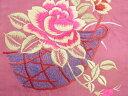 ショッピングかご 薔薇に籠模様刺繍名古屋帯【アンティーク】【中古】