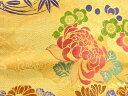 ショッピング着物 波に花丸紋織出し名古屋帯【アンティーク】【中古】