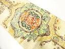 ショッピング購入 手織真綿紬草花模様織出し名古屋帯【リサイクル】【中古】