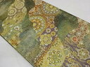 ショッピング帯 青銅箔松竹梅模様織出し袋帯【リサイクル】【中古】