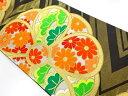 ショッピング円 川島織物製 金糸花模様織出し本袋帯【リサイクル】【中古】