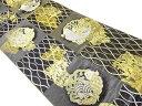 ショッピングリサイクル 市松に荒磯模様織出し袋帯【リサイクル】【中古】