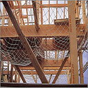転落防止・落下防止安全ネット【木造住宅用3.2φ】12畳 100mm目 5枚入