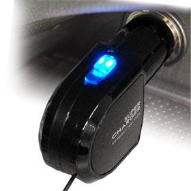 リール式DC充電器ブルーLED【FOMA】(AJ304)