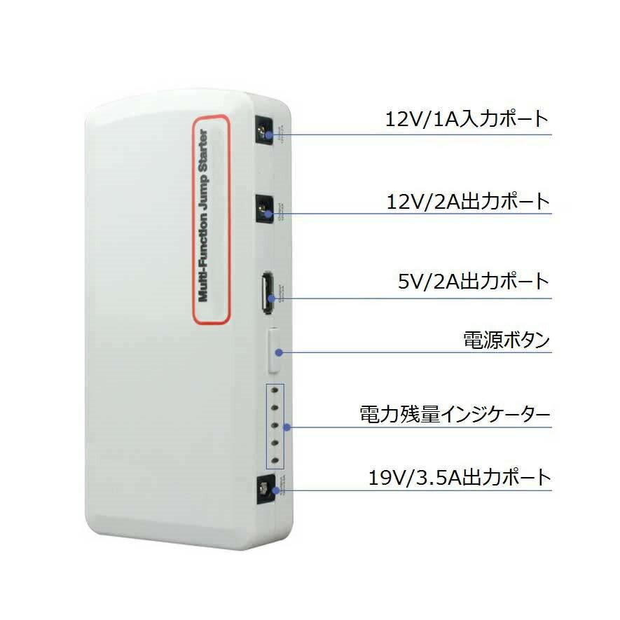 送料無料 軽量小型 18000mAh ジャンプスターター 12V車用 5000CCも可能 モバイルバッテリー カーバッテリー 上がり緊急対応 バッテリーレスキュー パソコンPC/スマホ/iPhone5/5s/6/iPad LEDライトとSOS緊急発信機能付き(3段階調節) 非常用バッテリー 日本語マニュアル付属