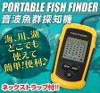 送料無料 魚群探知機 超音波式 携帯型 ポータブル フィッシュファインダー FISH FINDER 魚探 バックライト付き 日本語取扱説明書付き【05P01Oct16】
