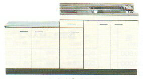 NISSAN-HELLO 公団 流し台 小型ゴミ収納器付き 公団型 キッチン 間口1700mm 奥行460mm 高さ800mm 立上90mm C46-170G ニッサンハロー