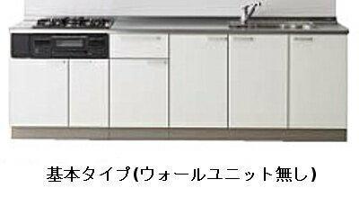 クリナップ ラクエラ シンシアシリーズ 壁付 I型 開き扉プラン 間口2700mm 奥行650mm 高さ850mm TGシンク 食器洗い乾燥機付き ウォールユニットなし rakuera clenup