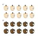 La Luz (ラ・ルース) リンゴマグネット 10個セット★木製 雑貨 りんご プチギフトにおすすめ