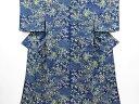 Kimono - リサイクル 縮緬地雲取に草花模様小紋着物【送料無料】