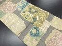 リサイクル 本金唐織正倉色紙裂織り出し袋帯【送料無料】