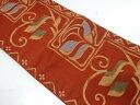 リサイクル 唐草模様織出し袋帯【送料無料】[和服 和装 着物 きもの 帯 おしゃれ かわいい]