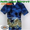 ショッピング紳士 アロハシャツ Pacific Legend 紳士 メンズ チョッパーバイク ハワイ製 【1点までメール便可】