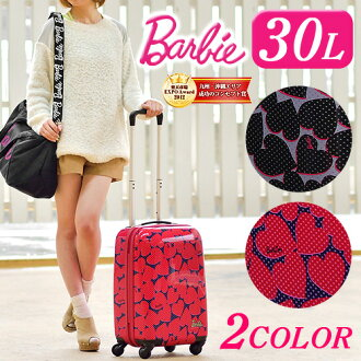 Suitcase carry hard travel bag! Cute Barbie Barbie (30 L) 05756 ladies on board bringing short-term travel school trips hard carry carry bag Ace Ace