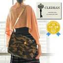 クレドラン CLEDRAN!カモフラージュ柄×ヌメ革の上品な雰囲気が魅力的♪A4サイズ対応で通勤・通学にも◎なショルダーバッグ!