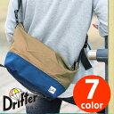 ドリフター Drifter!ユニセックスに使えるデザインが嬉しい♪ボトムカラーと同色のポーチが付属した3wayショルダーバッグ!