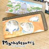 マンハッタナーズ manhattaner''s!L字ファスナー長財布 07577 財布 レディース 長財布 かわいい ネコ 猫 小銭入れあり 女性 プレゼント 【【あす楽対応】【R
