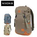 ニクソン NIXON!たっぷり荷物が収まり、短期旅行のお供にも大活躍☆貴重品入れに最適な背面ポケットも装備したリュックサック!