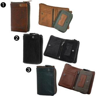 タフtough財布!2つ折財布【LeatherWash/レザーウォッシュ】55561≪送料無料≫
