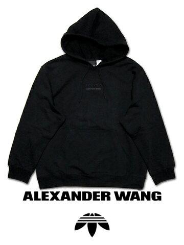 """【送料無料】【あす楽対応】【楽ギフ_包装】【メンズ プルオーバーパーカー・ブラック】adidas Originals by Alexander Wangアディダス オリジナルス バイ アレキサンダー ワン""""プレミアムコラボレーションアイテム"""""""