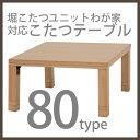 【送料無料】堀こたつユニットわが家対応こたつテーブル80×80