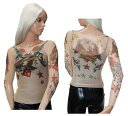 ポイント16倍 パワーネット トップス 刺青 タトゥー 柄 長袖 ストレッチ ヴィーナスプリント XS サイズ Lサイズ