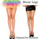 ショッピングフェンス ポイント16倍 ミュージックレッグス Music Legs ストッキング 網 アミタイツ パンティホース フェンスネット ブラック・ホワイト
