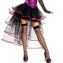 ポイント16倍 ミュージックレッグス Music Legs ボリューム スカート グローブ 2点セット バーレスク ダンス 衣装 レイヤードチュール リボン付き ブラックピンク 10P03Dec16