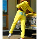 ショッピングウェットスーツ トラックスーツ スウェット スーツ 2点セット パーカー パンツ Sサイズ Mサイズ Lサイズ イエロー 送料無料