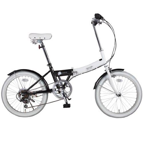 B-GROW 20インチ 折りたたみ自転車【カラフルツートーン低床フレーム】 6段変速 TRAILER BK(ブラック) BGC-N10-BK 【メーカー公認正規品販売店】ご購入後もしっかり保証【送料無料】大量注文も対応致します。