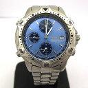 SEIKO セイコー 腕時計 7T32-6E40 クロノグラフ メンズ クォーツ シルバー ブルー アナログ デイト ステンレススチール ラウンド 東大阪店 232095【USED】
