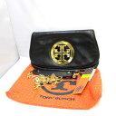 トリーバーチ バッグ TORY BURCH 鞄 クラッチバッグ ショルダーバッグ 2WAY チェーン ブラック ゴールド レディース レザー 袋付き 50009...