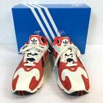 adidas アディダス オリジナルス YUNG-1 B37615 スニーカー 靴 シューズ ヤング 1 2018年6月発売 ホワイト white レッド red メンズ 26.5 ベトナム製 未使用 貝塚店 824698  RK1327G