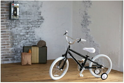 GraphicDesign【軽量アルミフレーム】◆arcoba◆アルコバ18インチ幼児車TEKTROブレーキ・ホワイトパーツ子ども用自転車【送料無料】送料込補助輪付