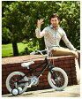 Graphic Design【軽量アルミフレーム】◆arcoba◆アルコバ 16インチ幼児車 TEKTROブレーキ・ホワイトパーツ ハイクオリティー子ども用自転車 補助輪付 子供