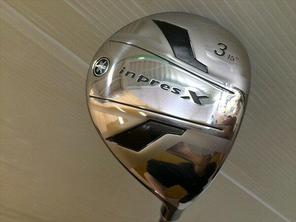 【】 YAMAHA ヤマハ フェアウェイウッド inpresX(2013) インプレスx2013 3W 15度 TourAD GT6 (S) クラブ傷状態:通常使用傷【メンズ】 ゴルフクラブ 中上級者向けの小ぶりなヘッド!