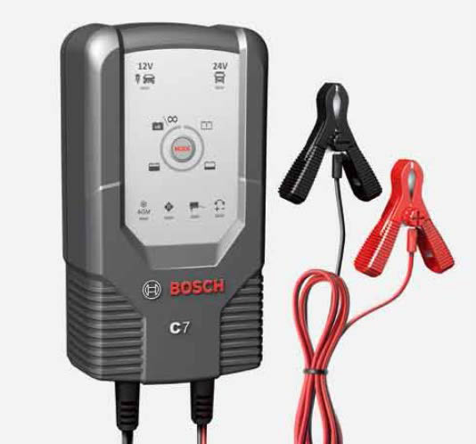 BOSCH ボッシュ 高性能コンパクトバッテリー充電器 C7