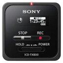 ☆<他の商品と同梱不可/沖縄不可>ソニー ICD-TX800-B リニアPCM対応ICレコーダー 16GB ブラック