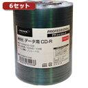<欠品中 予約順>☆【6セット】HI DISC CD-R(データ用)高品質 100枚入 TYCR80YS100BX6