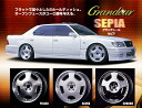 Grandeur SEPIA(SL) + GY LS2000 4本セット 18X9.0JJ + 255/35R18