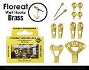 """Floreat Wall Hooks """" Brass """" / フローリートウォールフック ブラス フック ドイツ製 フロリート ハンガー ゴールド 真鍮 画鋲 ..."""