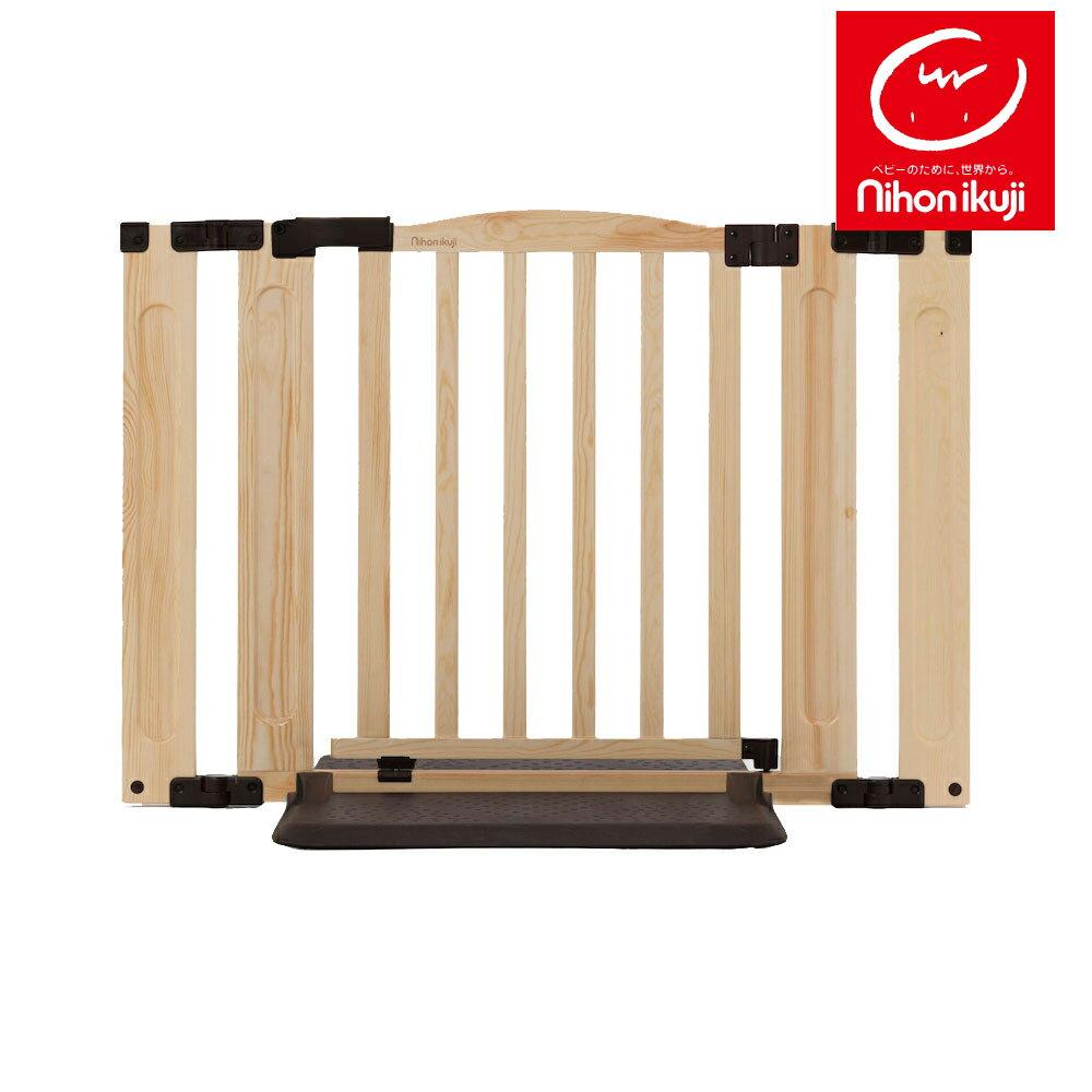 おくだけドアーズWoody-PlusSサイズ日本育児扉付きベビーゲートベビーフェンスおくだけ木目調プ
