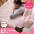 A)【送料無料】マイクロファイバーぬくぬく敷パッド(アルミシート入)【シングルサイズ】