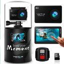 MOMENT4 4Kアクションカメラ[ウェアラブルカメラ WIFI搭載 スポーツカメラ 32Gb M...