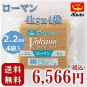 送料無料 太麺 業務用 ボルカノ スパゲッチ【ローマンスパゲッチ 2.2mm (4kg)(1ケース