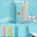 モバイルチャージャー 充電器 モバイルバッテリー 大容量 哺乳瓶 ミルク瓶 ポケモンGoのお供に iPhone android スマホ ポケットチャージャー 充電バッテリー 11000mAh MILK battery 【送料無料・2個セット】カップル かわいい ユニーク ミルク 2way 分離式 iPhone7 7Plus