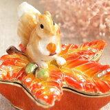 A097【】【【红叶和松鼠的珠宝盒】】松鼠和橡树果的珠宝BOX秋色红叶和橡树果和risujueribokkusupii地球(*^^)V[A097【】【【紅葉とリスのジュエリーボックス 】】リスとドングリのジュエリーBOX秋色もみじとどんぐりと