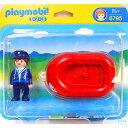 プレイモービル 1.2.3 ボートの男の人 ごっこ遊び 1歳...