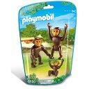 プレイモービル 動物園シリーズ チンパンジーの家族 ごっこ遊...